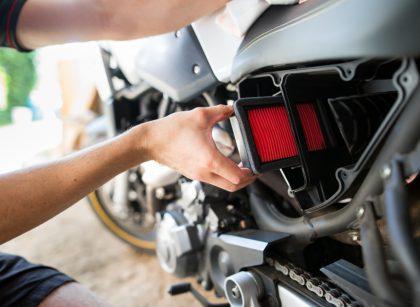 filtre à huile d'une moto
